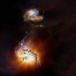 Una Coppia di Antichissime Galassie in Fusione