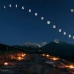 Un'incredibile foto dell'analemma lunare