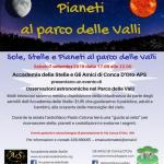 Sole, Luna, stelle e pianeti al Parco delle Valli