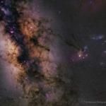 Saturno nella Via Lattea