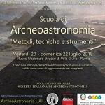 Scuola di Archeoastronomia 2018