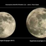 Superluna e miniluna a confronto