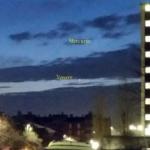 Venere e Mercurio danno spettacolo nel cielo del tramonto
