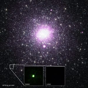 A binary system containing a quiescent black hole about 7,200 light years from Earth.